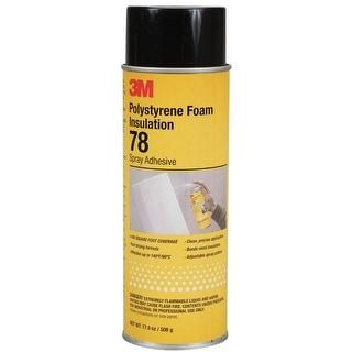 3M 78 Polystyrene Foam Insulation Spray Adhesive, Clear, 17.9 Oz