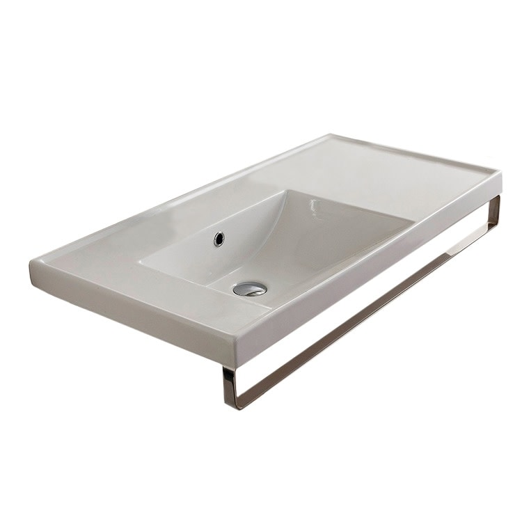 Nameeks 3008 Tb Scarabeo 36 1 5 Ceramic Bathroom Sink For Wall Overstock 17771072