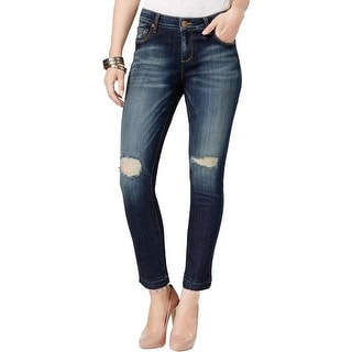 Kut From The Kloth Womens Reese Ankle Jeans Denim Destroyed