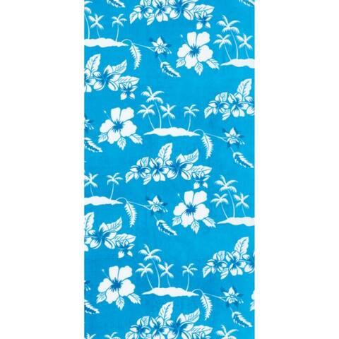 Turquoise Polynesia 30x60 Brazilian Velour Beach Towel