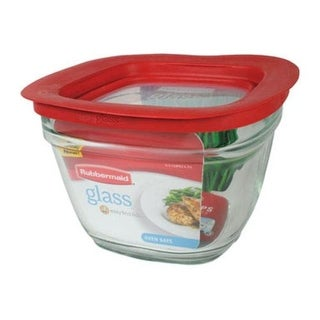 Rubbermaid 2856005 Glass Food Storage Container With Easy Find Lid