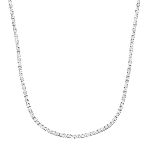 4 7/8 ct Diamond Infinity Necklace in 14K White Gold