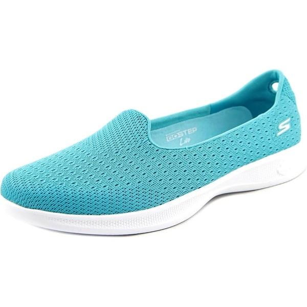 Skechers Go Step Lite Origin Women Round Toe Synthetic Blue Walking Shoe