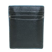 Buxton Walton Leather RFID Protected Rechargeable Power Bank Card Case Wallet - One size
