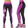 New Women's Printed Gym Running Yoga Pants High Rise Stretch Leggings Sweatpants Winter Trousers - Thumbnail 13