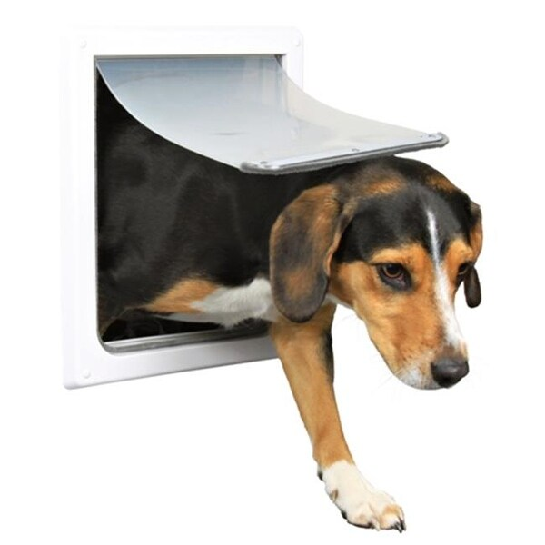 Shop 2 Way Locking Dog Door Small Medium Dogs White Free