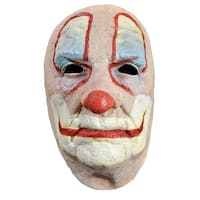 Adult Costume Face Mask Old Clown - White