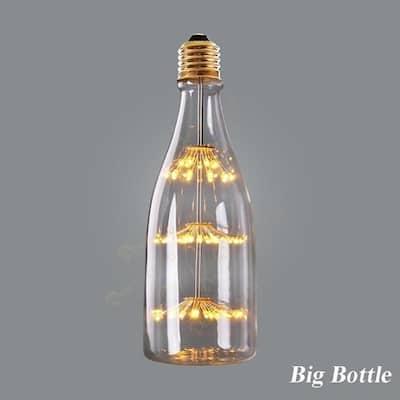 G80 G95 Retro Starry Sky Dimmable led Bulb 3W 2200K E27 220V Wine Bottle Decorative Lightbulb Lamp Lampada Led Big Bottle