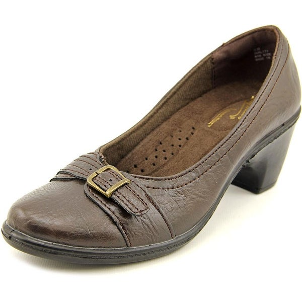 Easy Street DUCHESS Women Round Toe Synthetic Brown Heels