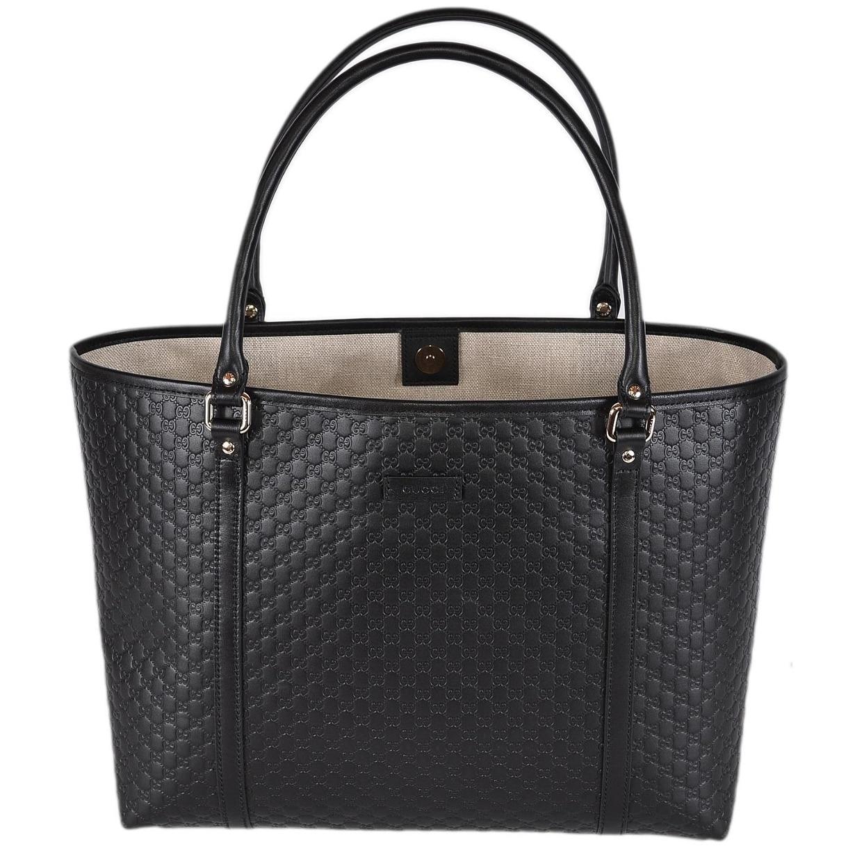 Gucci 449647 Black Leather Micro