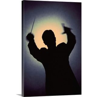 """Silhouette of conductor"" Canvas Wall Art"