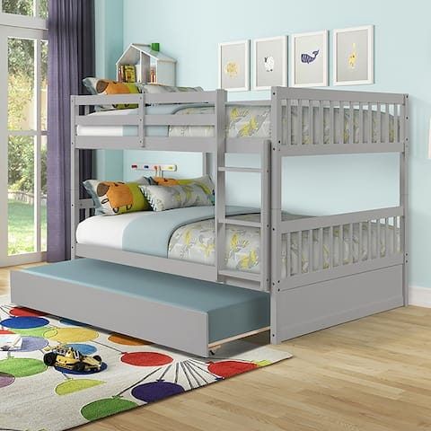 Bedroom Full over full bunk bed with trundle, Detachable