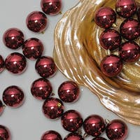 "60ct Burgundy Red Shatterproof Shiny Christmas Ball Ornaments 2.5"" (60mm)"
