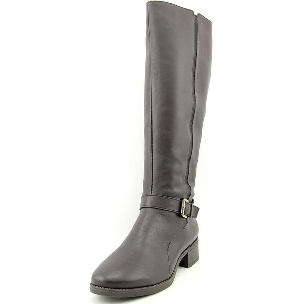 Easy Spirit Nadette W Round Toe Leather Knee High Boot
