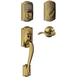 Schlage FE365-CAM-ACC-RH  Right Handed Camelot Electronic Handleset with Accent Lever