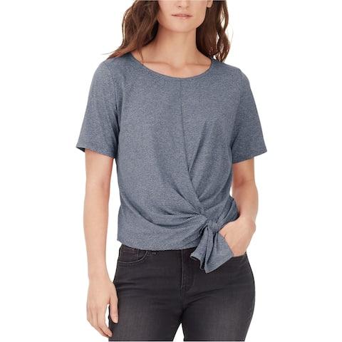 William Rast Womens Aubreigh Tie Basic T-Shirt