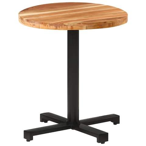 """vidaXL Bistro Table Round Ø27.5""""x29.5"""" Solid Acacia Wood"""