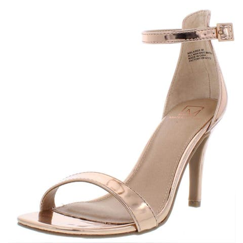 Material Girl Womens Blaire5 Open Toe Casual Ankle Strap Sandals