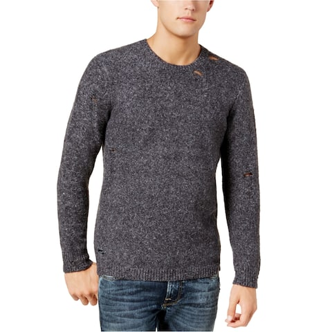 Guess Mens Deconstructed Knit Pullover Sweater
