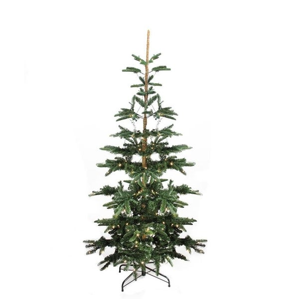 9' Pre-Lit Layered Noble Fir Artificial Christmas Tree - Warm Clear LED Lights - green