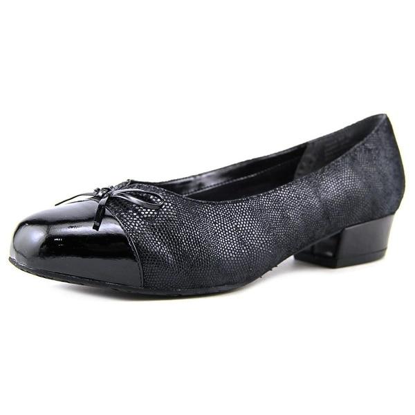 Ros Hommerson Tawnie Women N/S Round Toe Leather Black Heels