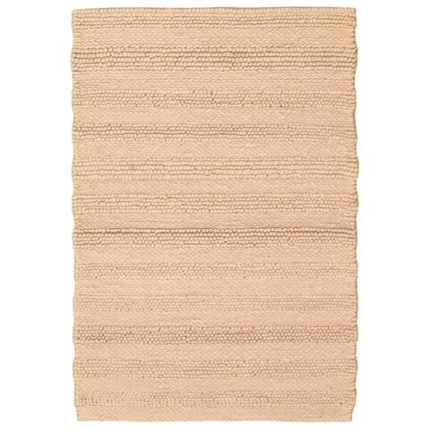 ECARPETGALLERY Braid weave Sienna Tan Wool Rug - 4'0 x 5'10