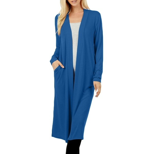 NE PEOPLE Womens Comfy Long Sleeve Knee Length Cardigans with Pockets. Opens flyout.