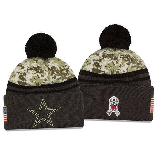 Shop New Era NFL 2016-17 Salute to Services Digital Camo Knit Beanie Hat -  Dallas Cowboys - Free Shipping On Orders Over  45 - Overstock - 14139573 e18eff51e5e