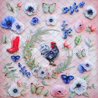 "Cottage Life Layered Plastic Embellishments 12""X12""-"