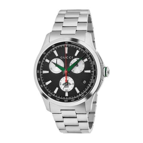 G-Timeless Chronograph Black Dial Men's Watch - N/A