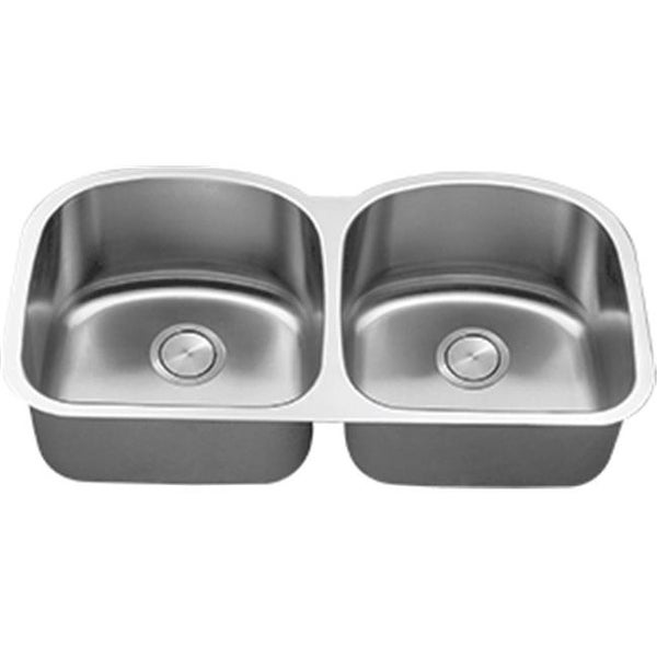 C Tech I Li 600 40 In Stainless Steel 50 D Shaped Double Bowl Sink Free Shipping Today 24924461