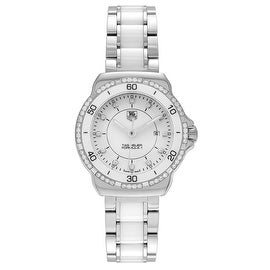 Tag Heuer Women's 'Formula 1' WAH1313.BA0868 1/3 CT Diamond TDW Stainless Steel Ceramic Link Watch