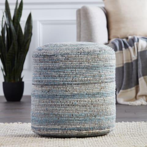 Hayes Stripes Cylinder Pouf