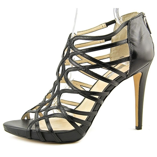 INC International Concepts Womens SHAREE Leather Open Toe Formal Strappy Sand... - 8.5