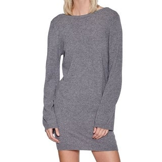 Equipment NEW Gray Womens Size XS Cashmere Baxley V-Back Sweater Dress