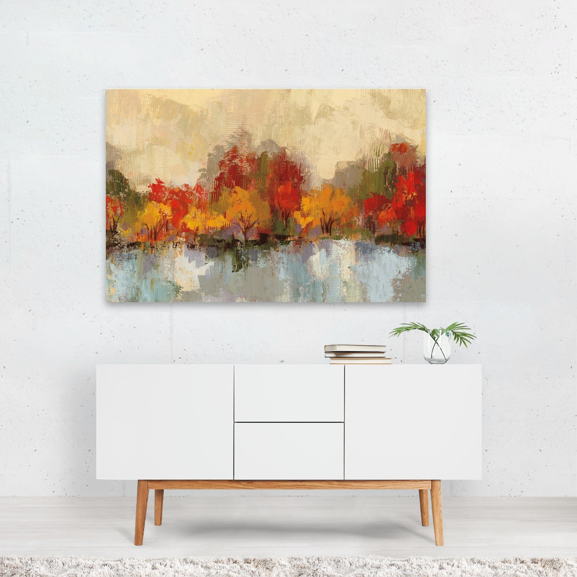 Autumn Forest Landscape Nature Unframed Wall Art Print Poster Overstock 31235553