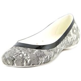 Crocs Lina Shiny Flat Women W Round Toe Synthetic Black Flats