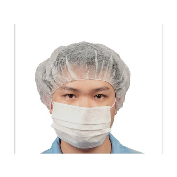 Food Safety Disposable Hygiene Bouffant Caps 100 white or blue
