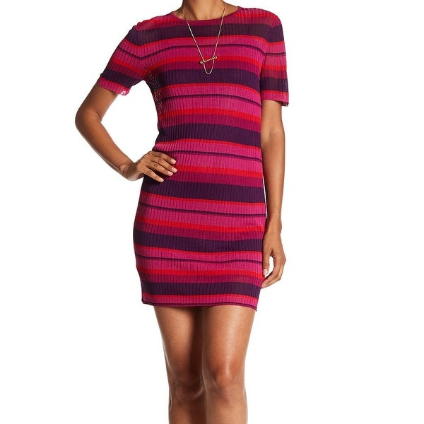 Shop Trina Turk New Pink Purple Womens Size Small S Sheath Striped