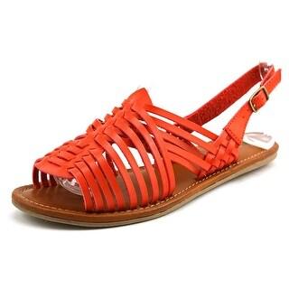 Mia Antigua Women Open-Toe Synthetic Red Slingback Sandal