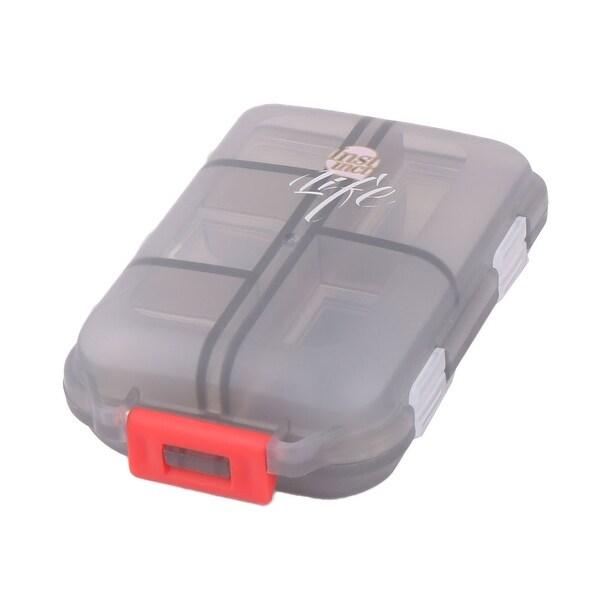 Traveling Plastic 10 Compartments Medicine Pills Holder Storage Box Case Gray