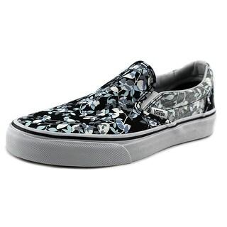 Vans Classic Slip-On Women Round Toe Canvas Black Skate Shoe
