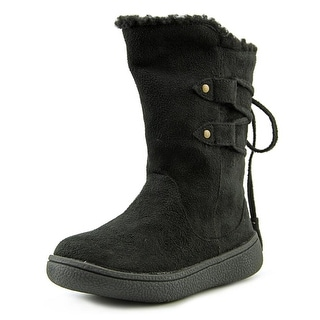 Western Chief Anna Toddler Round Toe Synthetic Black Knee High Boot