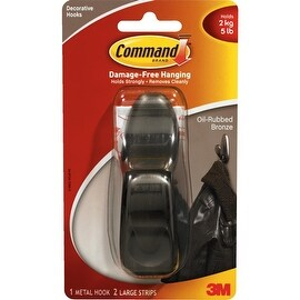 3M Command Lrg Bronze Hook