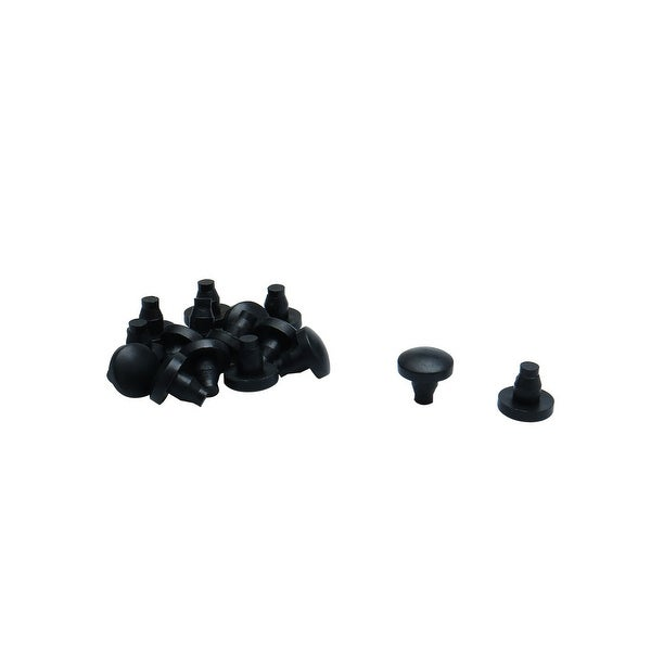 16pcs 7mm Black Stem Bumpers Glide, Patio Outdoor Furniture Glass Table Top Anti-collision Embedded