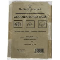 """The Krafty Gourmet Natural Goodies-To-Give Bags 4/Pkg-6.5""""X8"""""""