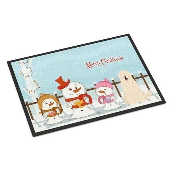 Carolines Treasures BB2355JMAT Merry Christmas Carolers South Russian Sheepdog Indoor or Outdoor Mat 24 x 0.25 x 36 in.