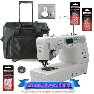 Janome Memory Craft 6600P Professional Computerized Sewing Machine With Exclusive Bonus Bundle
