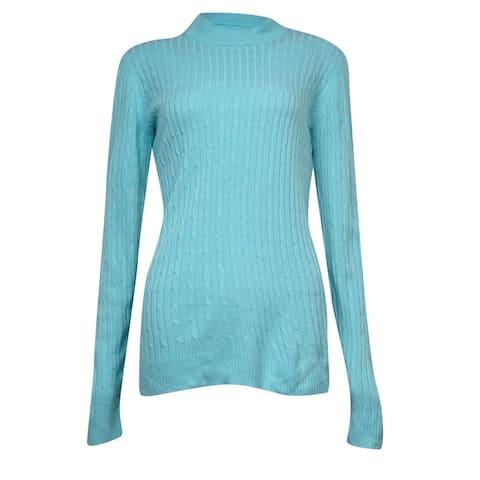 Karen Scott Women's Thin Mock Turtleneck Sweater