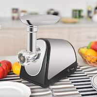 Costway 2000W Electric Meat Grinder Stainless Steel Sausage Stuffer Maker Home Use